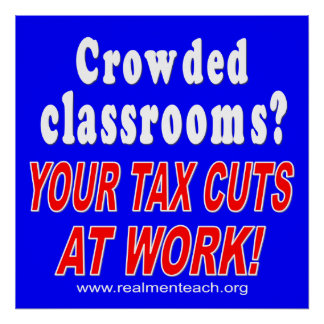 Crowded classrooms (blue) posters