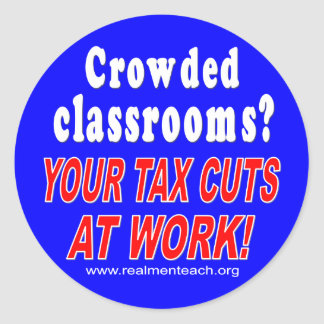 Crowded classrooms (blue) stickers
