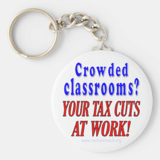 Crowded classrooms keychain