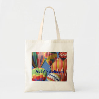 Crowded Cluster of Hot Air Balloons Bag with Text