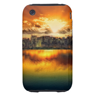"""""""cROWDED hORIZON"""" iPhone 3 Tough Cover"""