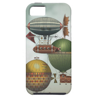 Crowded Skies Vintage Travel Airship Steampunk Art iPhone SE/5/5s Case