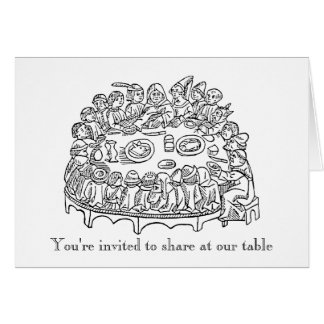 Crowded Table Invitation Cards