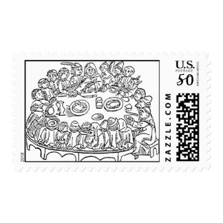 Crowded Table postage