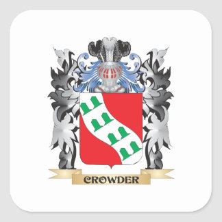 Crowder Coat of Arms - Family Crest Square Sticker