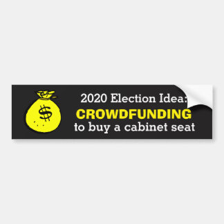 Crowdfunding Election Idea Bumper Sticker