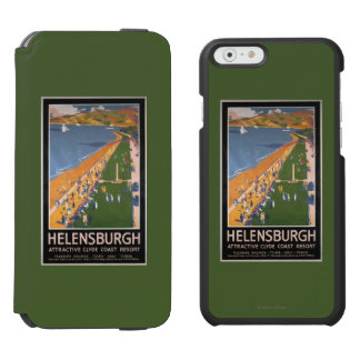 Crowds along Clyde Coast Beach Railways Poster iPhone 6/6s Wallet Case