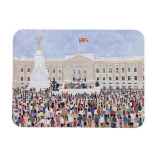Crowds around the Palace 1995 Magnet