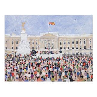 Crowds around the Palace 1995 Postcard