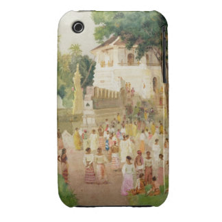 Crowds at a Monument in India, 1895 (w/c & pencil iPhone 3 Case-Mate Case