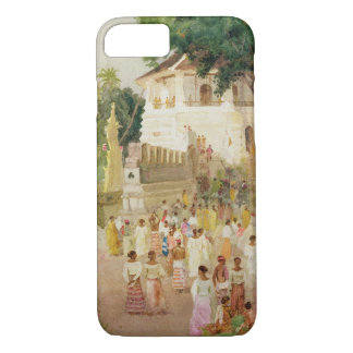 Crowds at a Monument in India, 1895 (w/c & pencil iPhone 7 Case