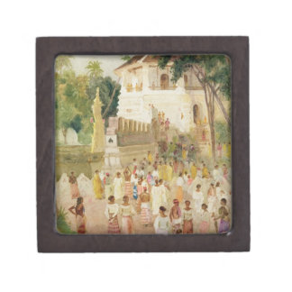 Crowds at a Monument in India, 1895 (w/c & pencil Premium Gift Box
