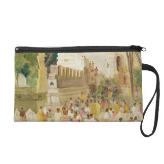 Crowds at a Monument in India, 1895 (w/c & pencil Wristlet Purse