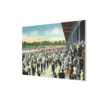 Crowds at Saratoga Race Track & Clubhouse Gallery Wrapped Canvas
