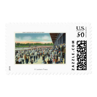 Crowds at Saratoga Race Track & Clubhouse Postage