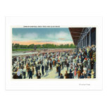 Crowds at Saratoga Race Track & Clubhouse Post Card