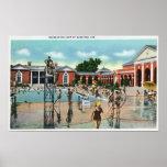Crowds at Saratoga Spa Swimming Pool Poster