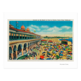 Crowds on the Beach in front of the Casino Postcard