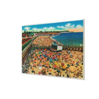 Crowds on the Beach, Santa CruzSanta Cruz, CA Canvas Print