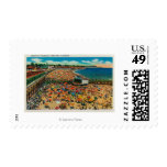 Crowds on the Beach, Santa CruzSanta Cruz, CA Postage Stamps