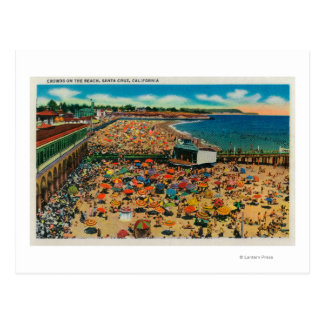 Crowds on the Beach, Santa CruzSanta Cruz, CA Postcard