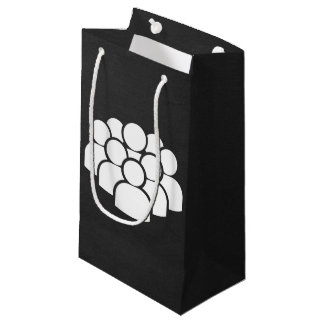 Crowds Pictogram Small Gift Bag