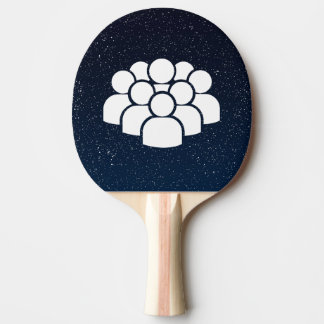 Crowds Pictogram Ping-Pong Paddle