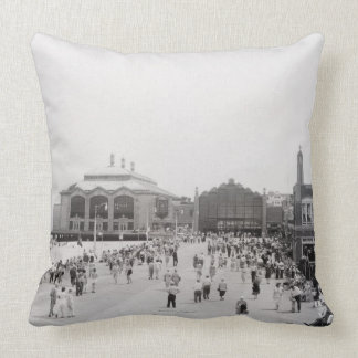 Crowds Throw Pillows
