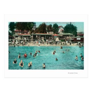 Crowds Swimming at Alameda BeachAlameda, CA Postcard