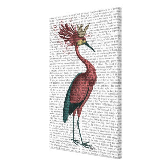 Crowed Marsala Heron Canvas Print