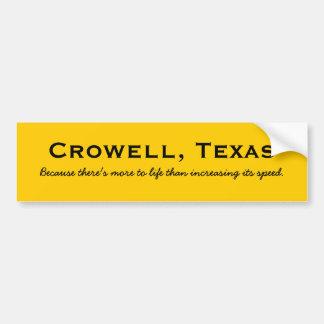 Crowell, Texas Bumper Sticker