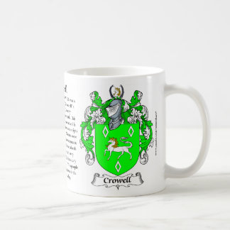 Crowell, the Origin, the Meaning and the Crest Coffee Mug