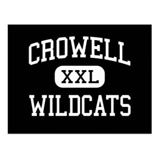 Crowell - Wildcats - High School - Crowell Texas Postcard