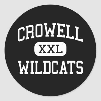 Crowell - Wildcats - High School - Crowell Texas Round Stickers