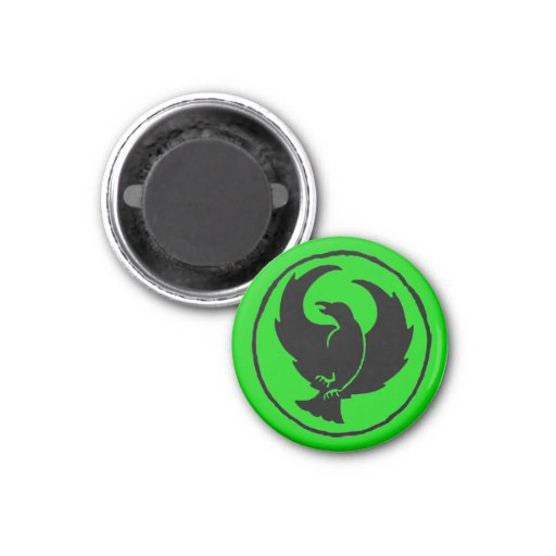 Crowfoot Magnet (black/true green)