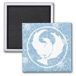 Crowfoot Magnet Blue Porcelain