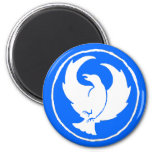 Crowfoot Magnet in White and Blue, Round or Square
