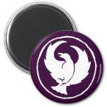Crowfoot Magnet (white/dark purple)