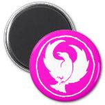 Crowfoot Magnet (white/pink)