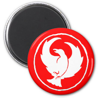 Crowfoot Magnet (white/red)