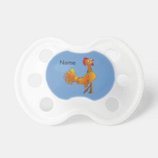 Crowing cartoon bantam rooster BooginHead pacifier