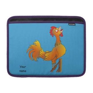 Crowing cartoon bantam rooster MacBook air sleeves