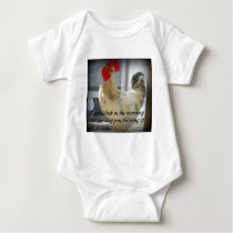 Crowing Rooster Humor Baby Bodysuit