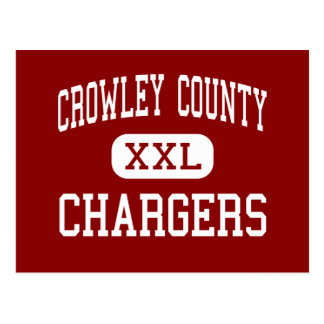 Crowley County - Chargers - High - Ordway Colorado Postcard