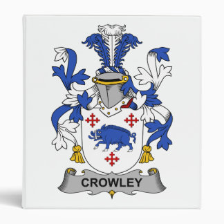 Crowley Family Crest 3 Ring Binder