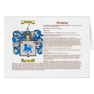 Crowley (meaning) card