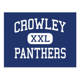Crowley Panthers Middle Fort Worth Texas Postcard