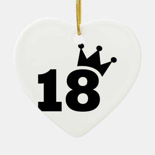 Crown 18th Birthday Ceramic Ornament