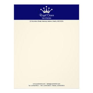 Crown 2in Color Header - Navy 000066 Letterhead