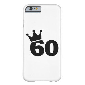 Crown 60th birthday barely there iPhone 6 case